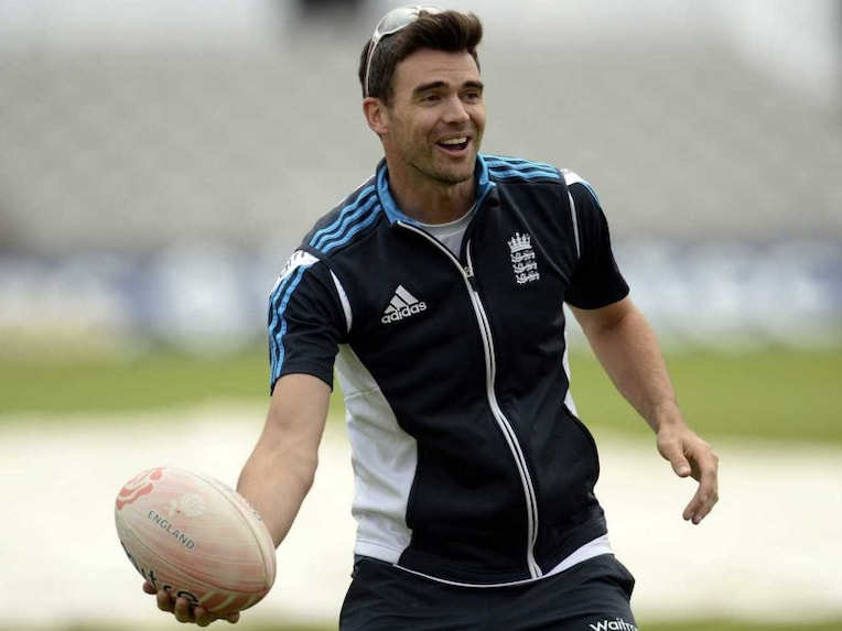 James Anderson in a relaxed mood ahead of the 4th Test vs India at Old Trafford.