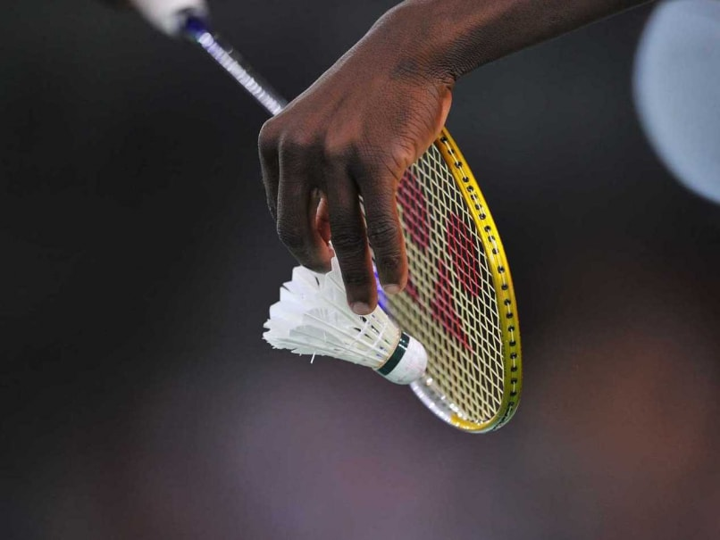 A representional pic of a badminton racquet and shuttle cork during the 2014 Commonwealth Games.