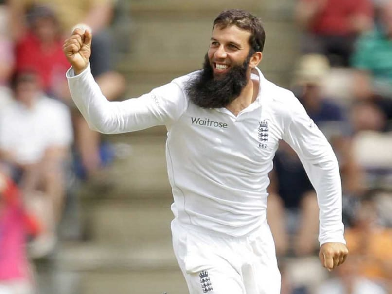 Moeen Ali celebrates a wicket vs India at Southampton.