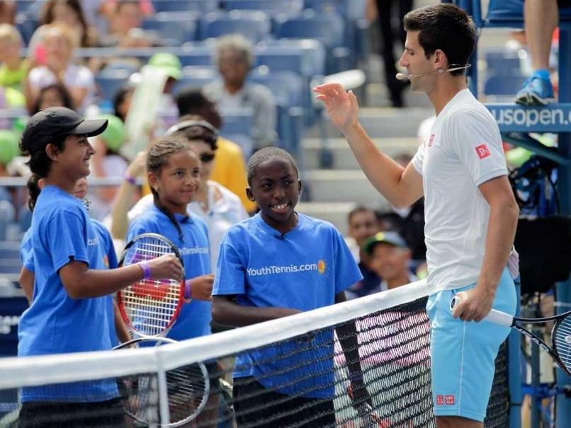 Novak Djokovic US Open kids