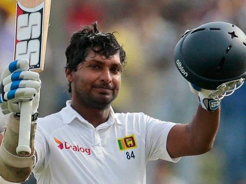 Kumar Sangakkara celebrates his double ton vs Pakistan in Galle.
