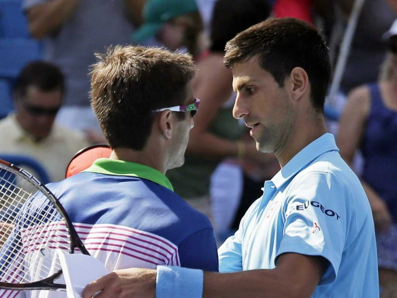 Tommy Robredo and Novak Djokovic