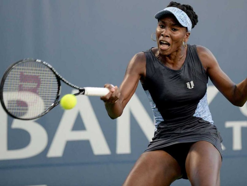 Venus Williams of the Unites States of America plays against Victoria Azarenka of Belarus during Day 4 of the Bank of the West Classic at the Taube Family Tennis Stadium on July 31, 2014.