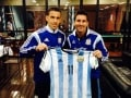 Argentina Give Pope Francis Signed Jersey