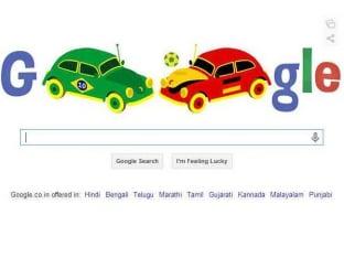 Google doodle Brazil vs Germany
