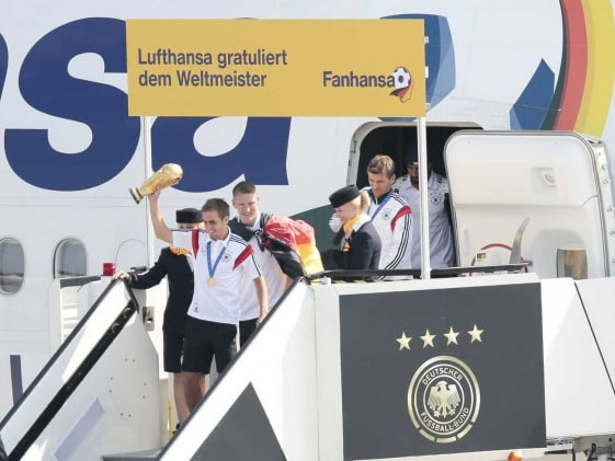 World Champions Germany Return Home to Huge Fan Party