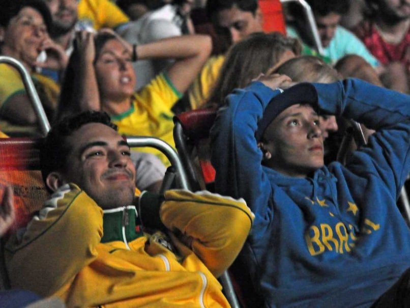Brazil fans watch the third place playoff against Netherlands in the FIFA World Cup 2014.