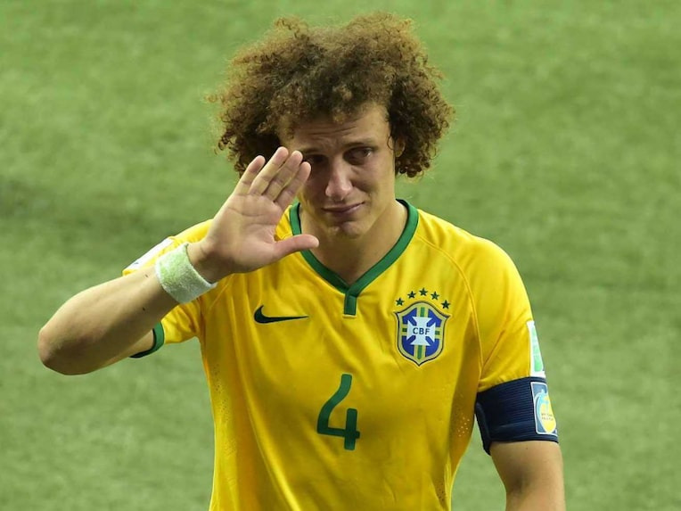 David Luiz after losing the semi vs Germany in the FIFA World Cup.