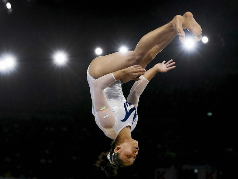 Dipa Karmakar in action during CWG 2014