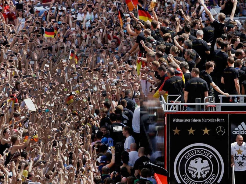 German fans celebrate