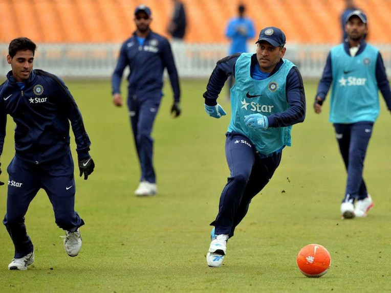 Indian team in practice