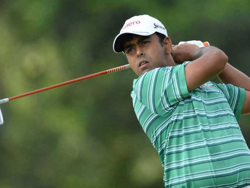 Anirban Lahiri in action during the British Open golf tournament.