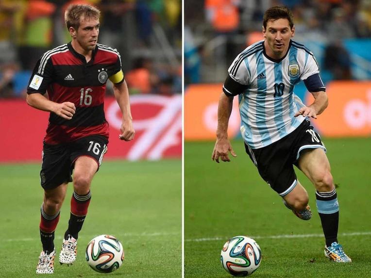 Philipp Lahm and Lionel Messi