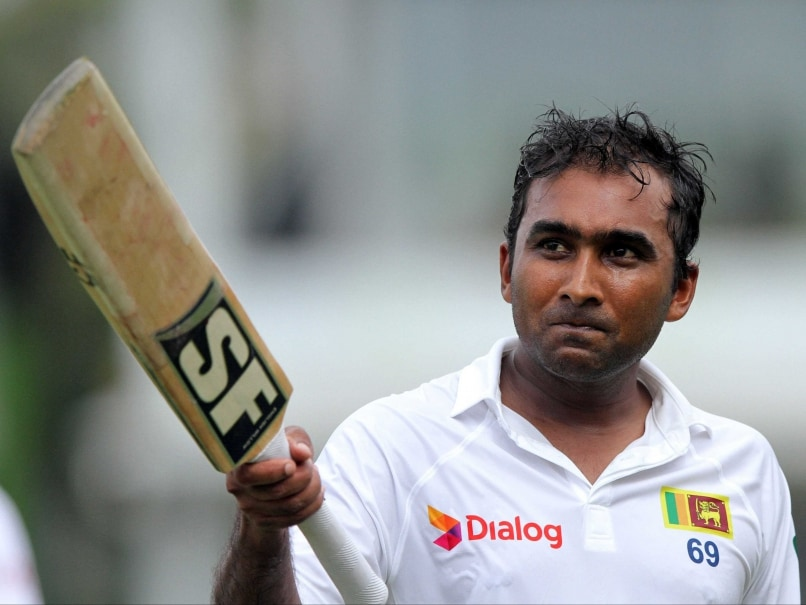 Mahela Jayawardene celebrates his century during the first day of the second Test between Sri Lanka and South Africa in Colombo, Sri Lanka, Thursday, July 24, 2014.
