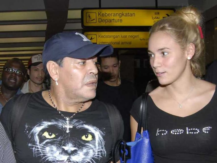 Maradona With Ex Oliva