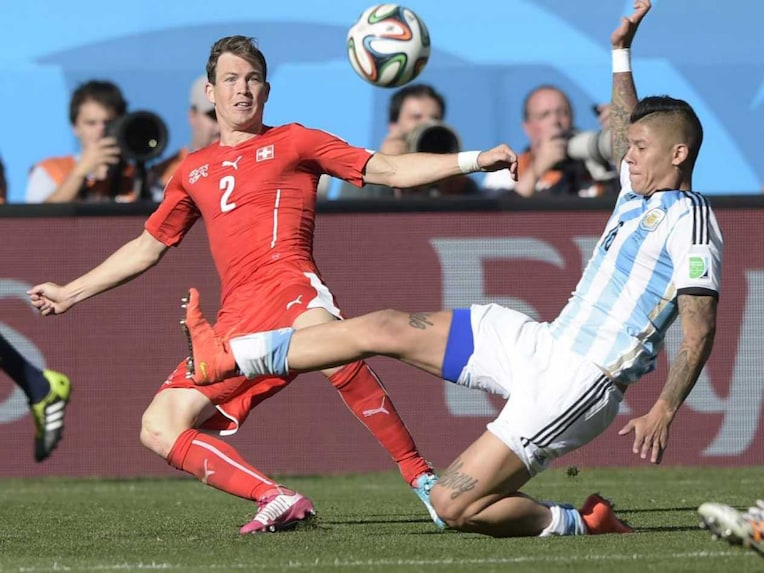 Argentina defender Marcos Rojo had received his first warning against Bosnia in the Group stages of the FIFA World Cup