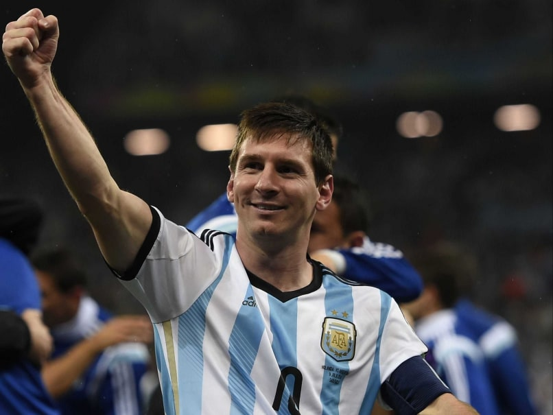 Lionel Messi ecstatic after Argentina enters the World Cup final.