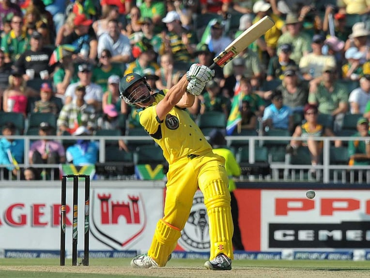 In this file photo, Australias Mitchell Marsh plays a shot during the 2nd Twenty20 against South Africa at Wanderers Cricket Ground on October 16, 2011 in Johannesburg.