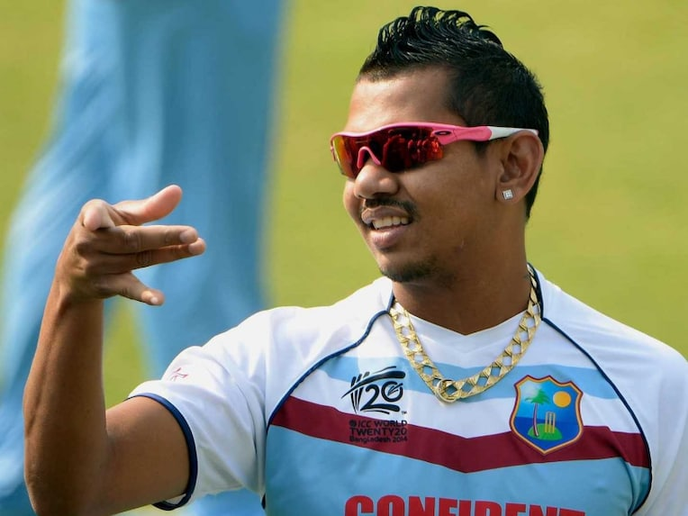 Sunil Narine during a practice session during the World T20 2014 in Bangladesh.