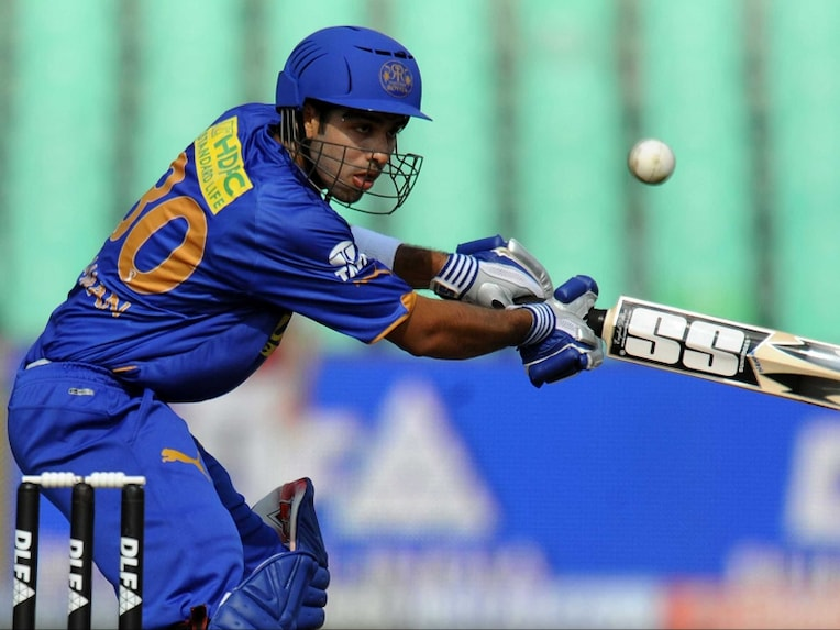 In this file photo, Naman Ojha of Rajasthan Royals plays for a boundary against Kings XI Punjab during the IPL Twenty20 at the Kingsmead Cricket Stadium in Durban on May 5, 2009.