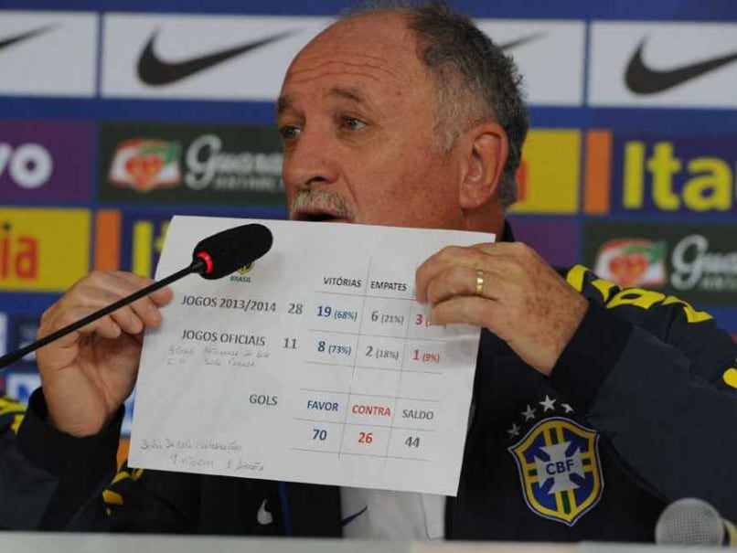 Brazil's coach Luiz Felipe Scolari takes part in a press conference in Teresopolis on July 9, 2014 during the 2014 FIFA World Cup. Brazil coach Luiz Felipe Scolari said no decision on his leadership of the humiliated national team would be taken until after the World Cup.