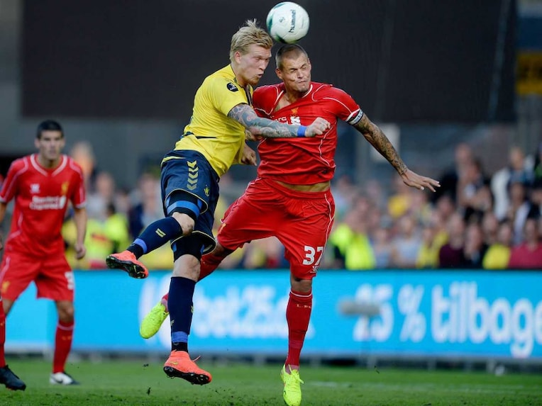 Simon Makienok and Martin Skrtel