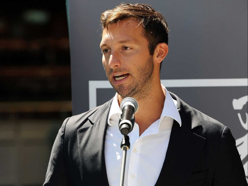 his file photo taken on October 31, 2012 shows Australias five-time Olympic swimming gold medallist Ian Thorpe at the launch of his autobiography