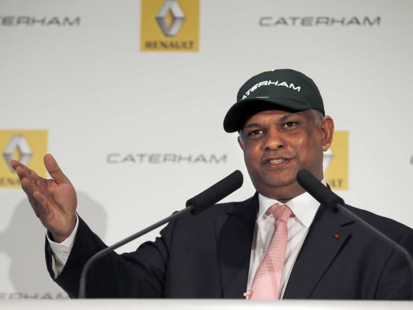 In this file picture taken on November 5, 2012, Malaysian chairman of British coach builder Caterham, Tony Fernandes speaks during a press conference at French carmaker Renault in Paris.