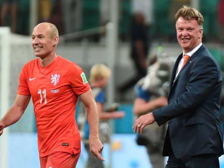Arjen Robben and Louis van Gaal