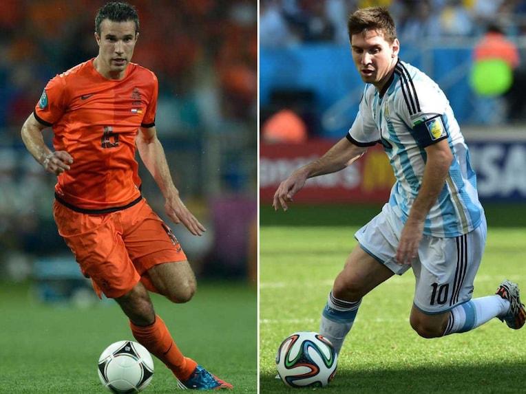 Robin Van Persie and Lionel Messi