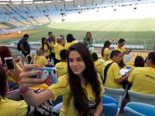 Brazil football world cup fan