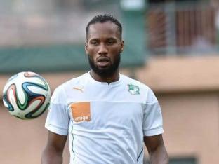 Didier Drogba training