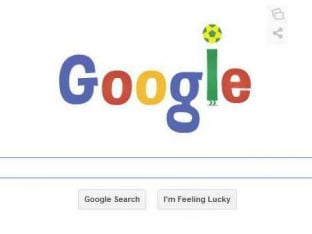 Internet giants Googles animated doodle for FIFA World Cup
