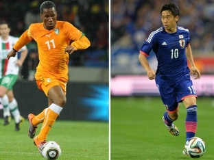 Didier Drogba of Ivory Coast and Shinji Kagawa of Japan will be two players to watch out for