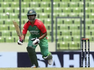 Bangladesh's Tamim Iqbal Fined for Breaching Code of Conduct