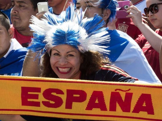 Spanish fans world cup