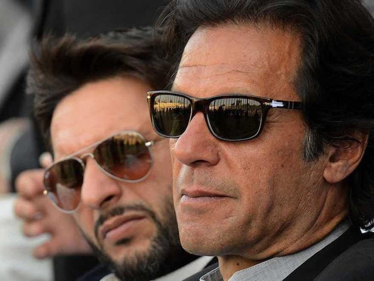Shahid Afridi and Imran Khan