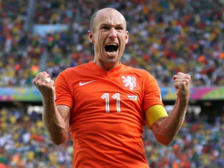 Netherlands' Arjen Robben 'admitted' to falsely diving to earn a penalty against Mexico.