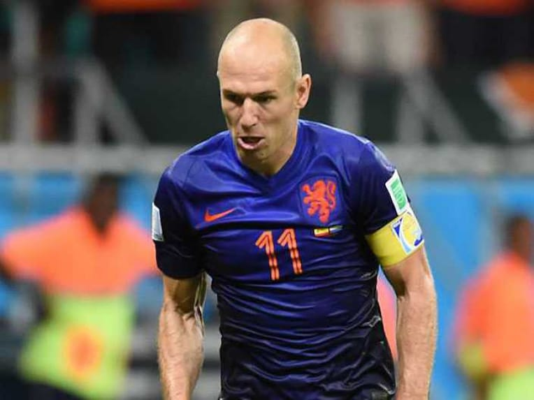 Arjen Robben in action during FIFA World Cup