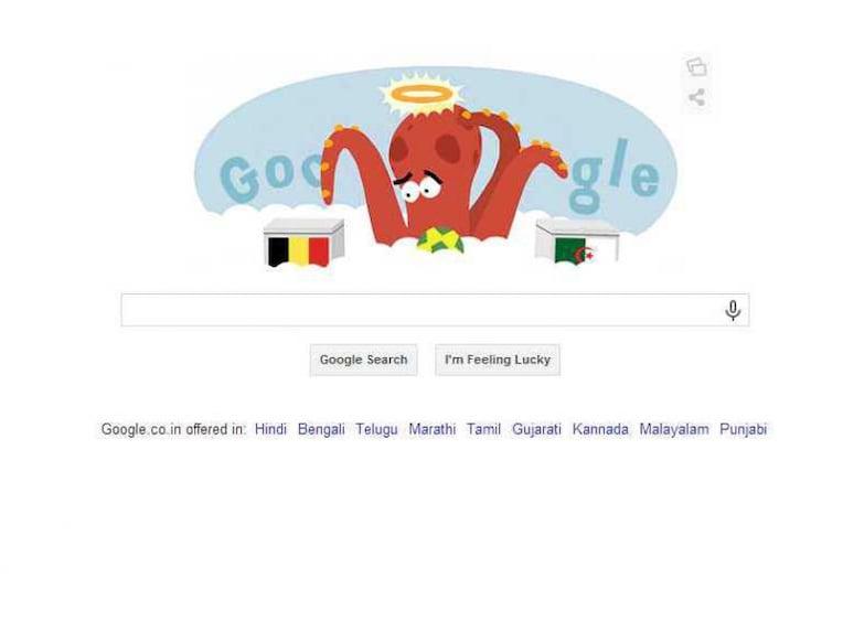 Belgium vs Algeria Google Doodle