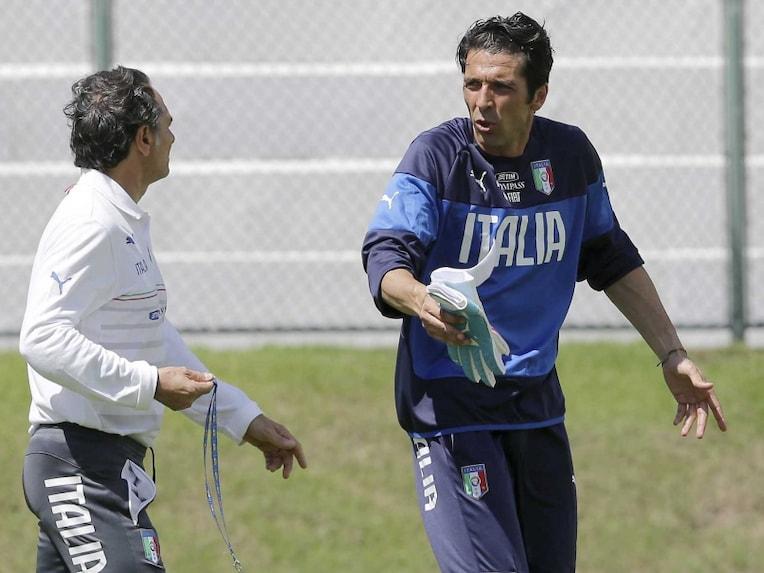 Cesare Prandelli and Gianluigi Buffon