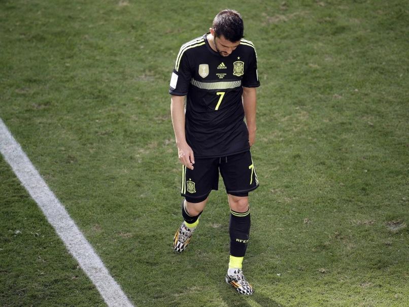 David Villa in tears