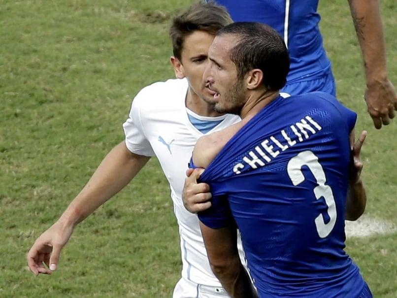Luis Suarez Bite Victim Giorgio Chiellini Feels Ban 'Excessive'