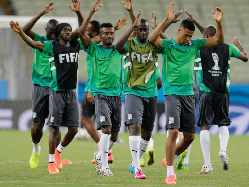 Ivory Coast in practice during FIFA World Cup