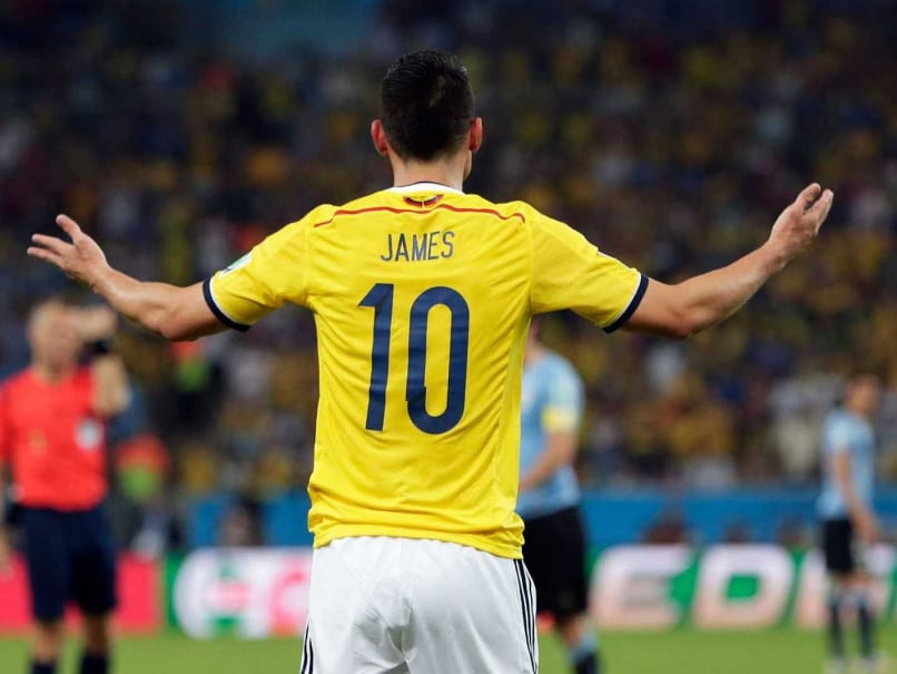 Colombian striker James Rodriguez is a strong contender for the golden boot at the FIFA World Cup