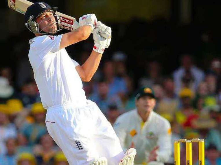 Jonathan Trott plays a shot during the Ashes