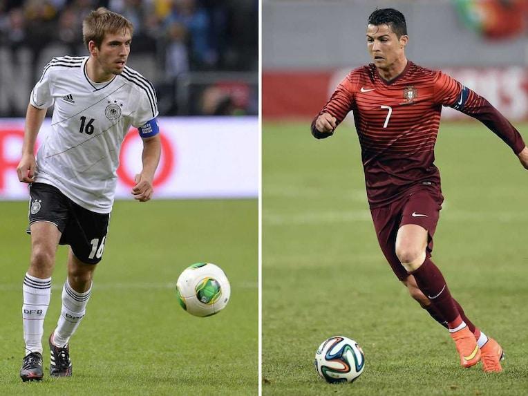 Philipp Lahm and Cristiano Ronaldo