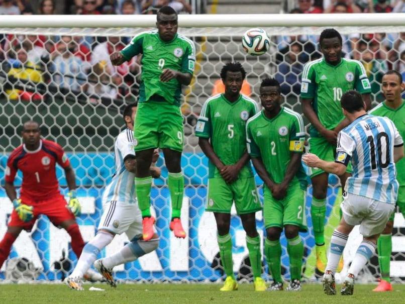 Messi Scoring A Freekick Vs Nigeria 2014
