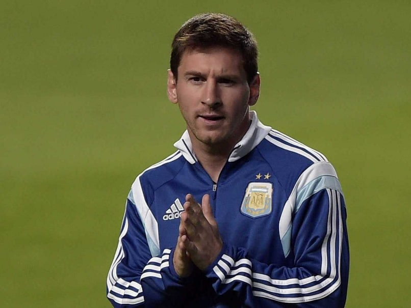 Lionel Messi during practice in FIFA World Cup