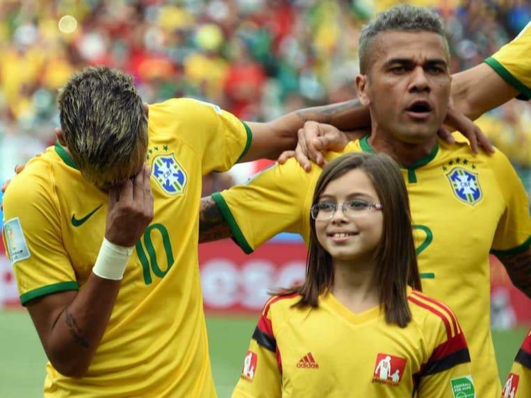 Neymar Brazil anthem